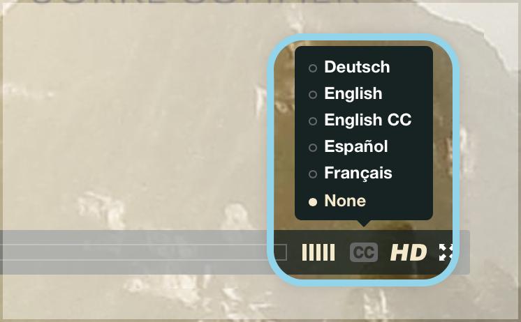 caption menu